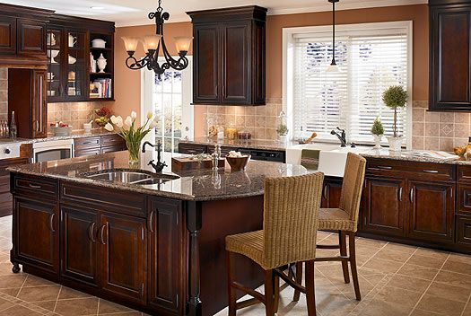 Kitchen Cabinets Ideas » Classic Cherry Kitchen Cabinets - Photos