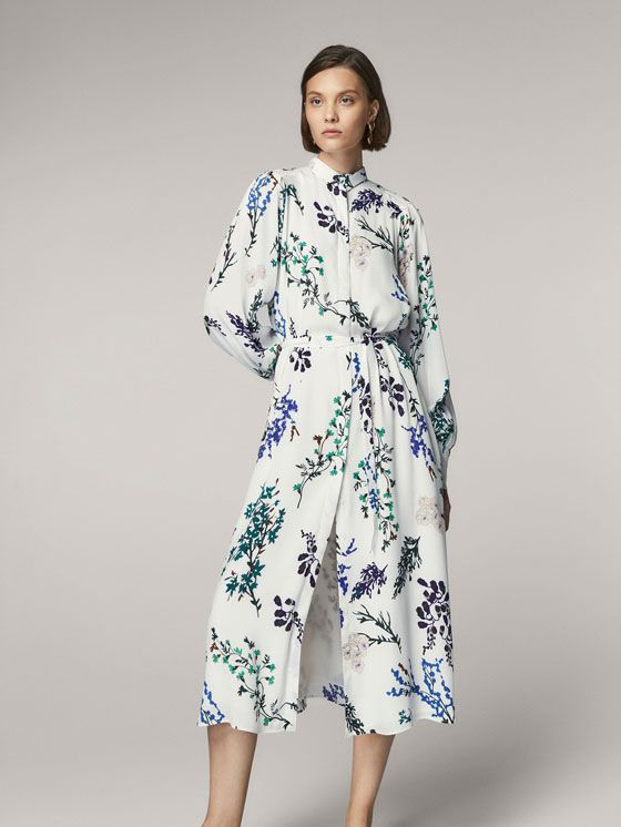 9b560cb28 Autumn Winter 2017 Women´s FLORAL PRINT SHIRT DRESS at Massimo Dutti for  3595. Effortless elegance!