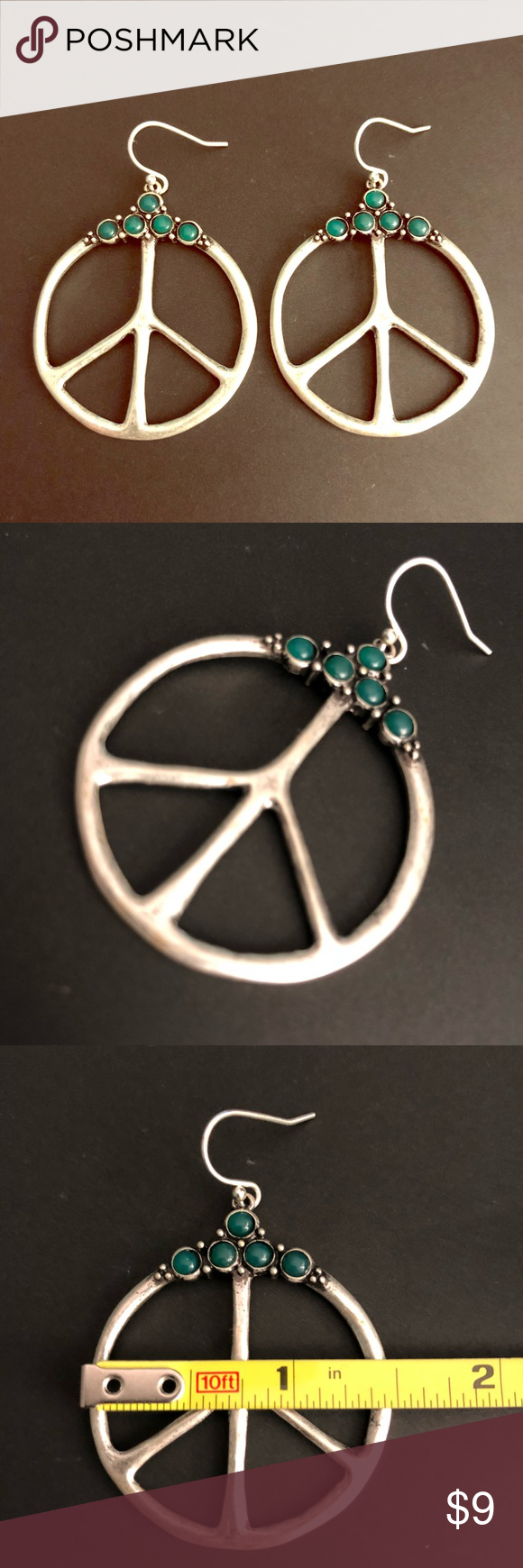 Download Lucky Brand peace sign earrings Gently used Lucky Brand ...
