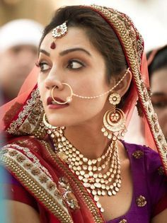 bridal nose hoop Google Search Nathni Bridal Nosering Nath
