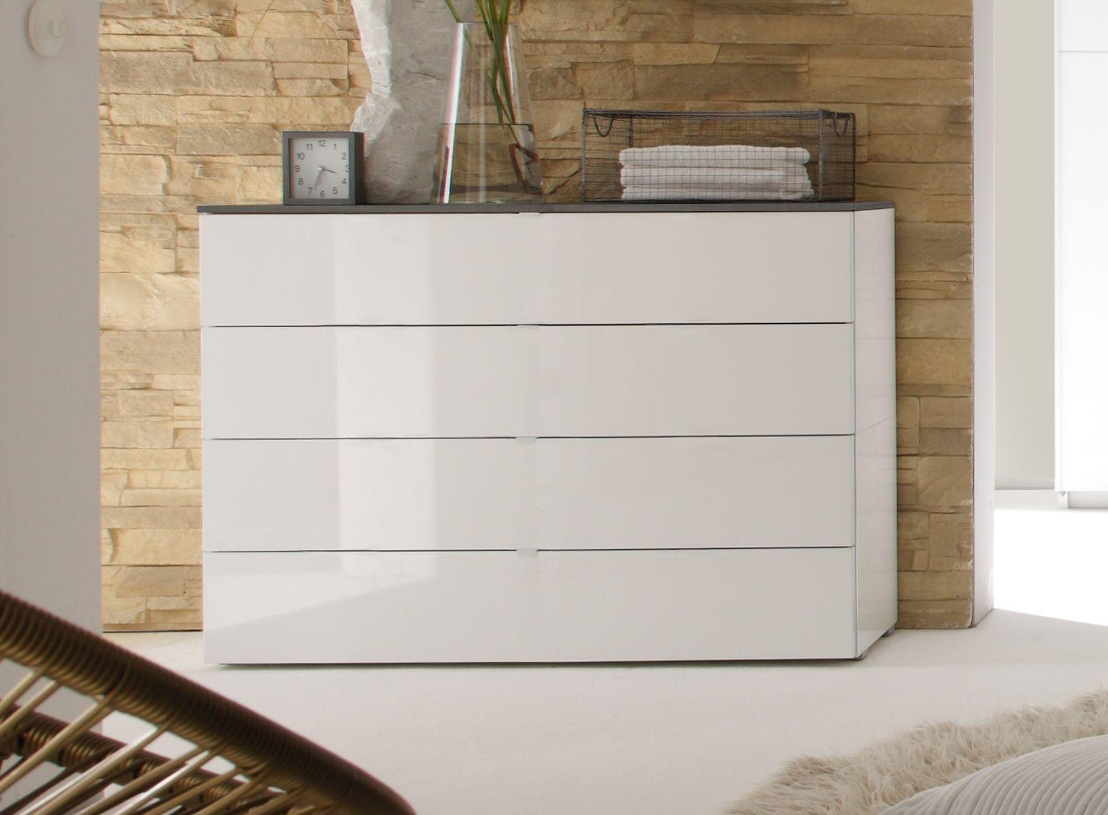 Schön Schlafzimmer Kommode Weiß Hochglanz