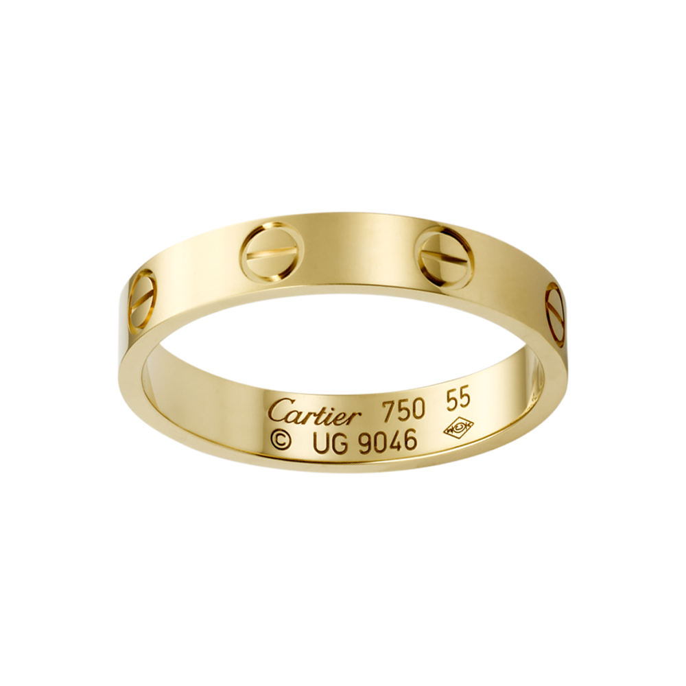 Cool Cartier Love Wedding Band in Pink Gold to match Yang Chen us