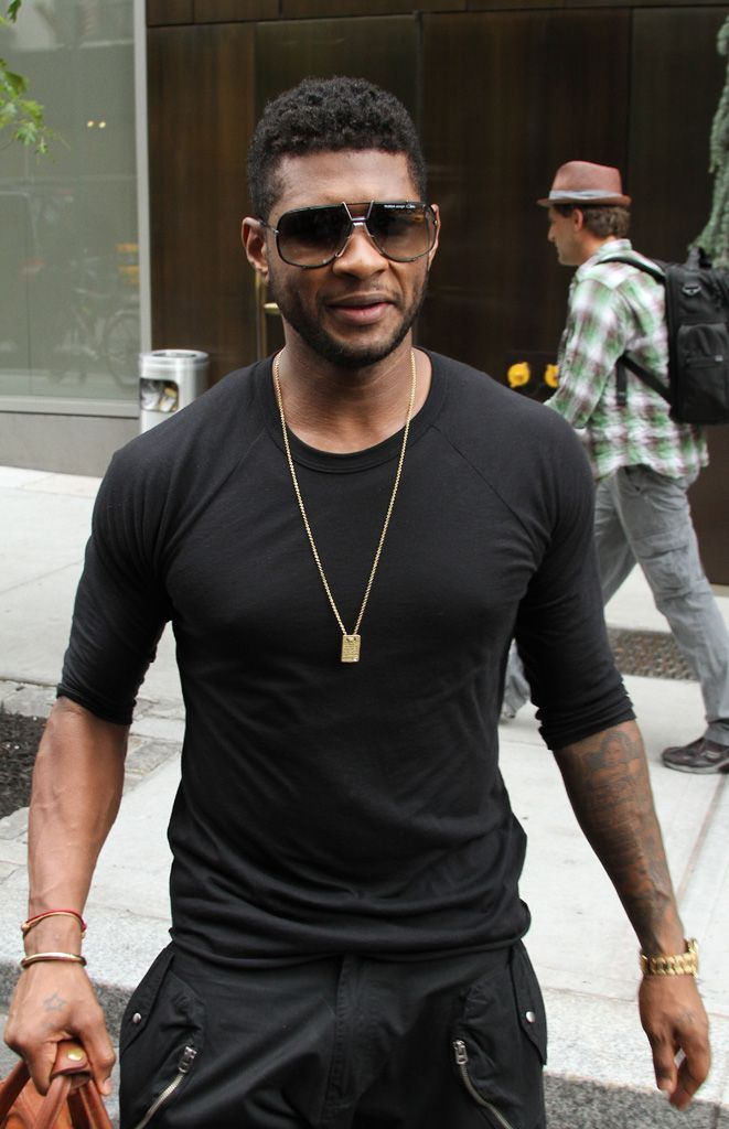 Awesome Top 10 Usher Mohawk Fade Haircuts For Black Men 2014
