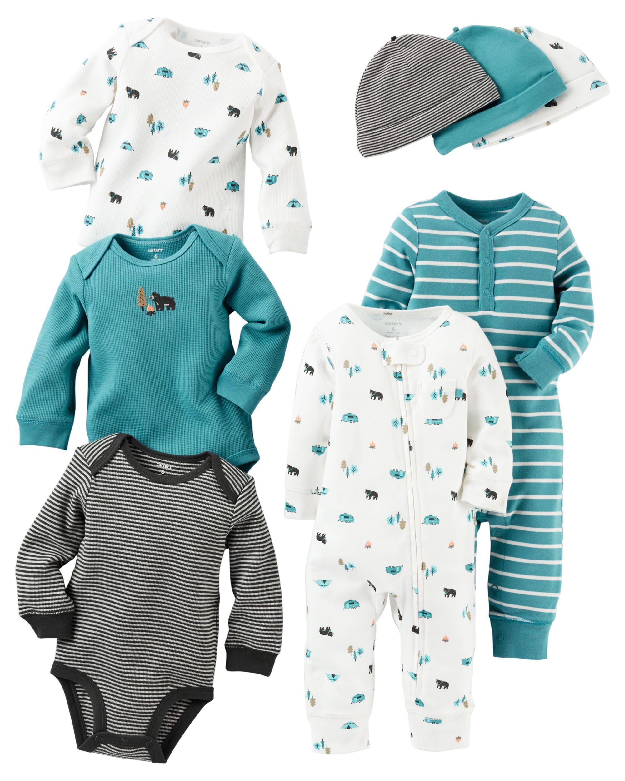 64a9391db Baby Boy Coverall   Beanie Gift Sets