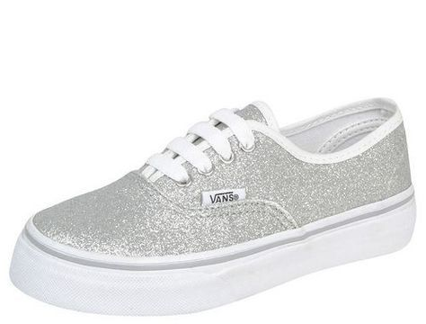 22ebafb9b02151 Shimmer Authentic Silver Vans