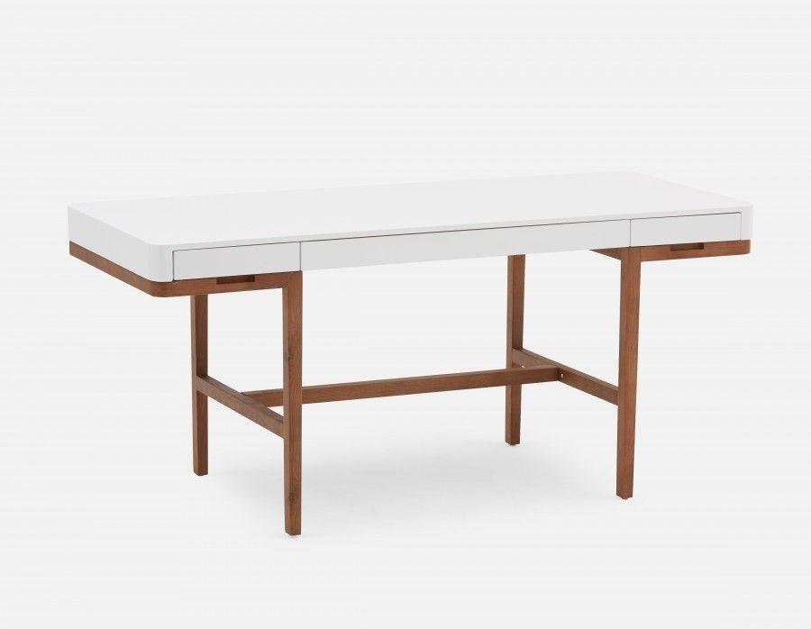 Adel Solid Ash Wood Desk 166cm Wood Desk Modern Desk Home