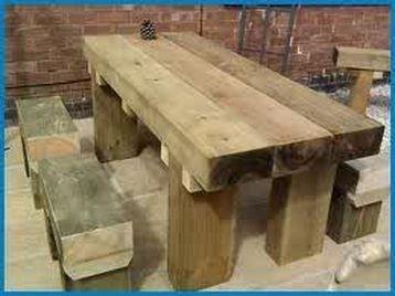 Railway Sleeper Furniture Wooden Outdoor Table Furniture