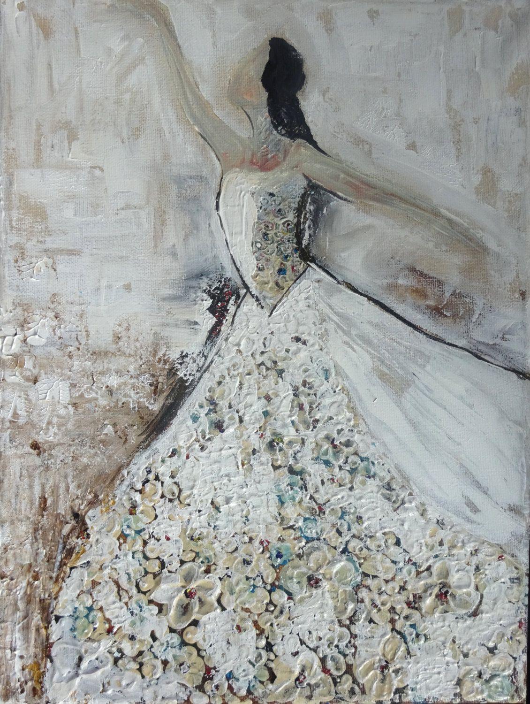 Ballet - Wall Art - Ballerina - Abstract Painting - Acrylic - Fine Art - Portrait - Abstract Ballerina - UK Art - Original Painting - Gift by ... & Ballet - Wall Art - Ballerina - Abstract Painting - Acrylic - Fine ...