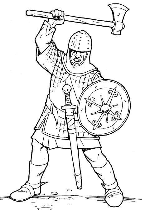 Раскраски рыцари | Детвора Онлайн | Rytíři
