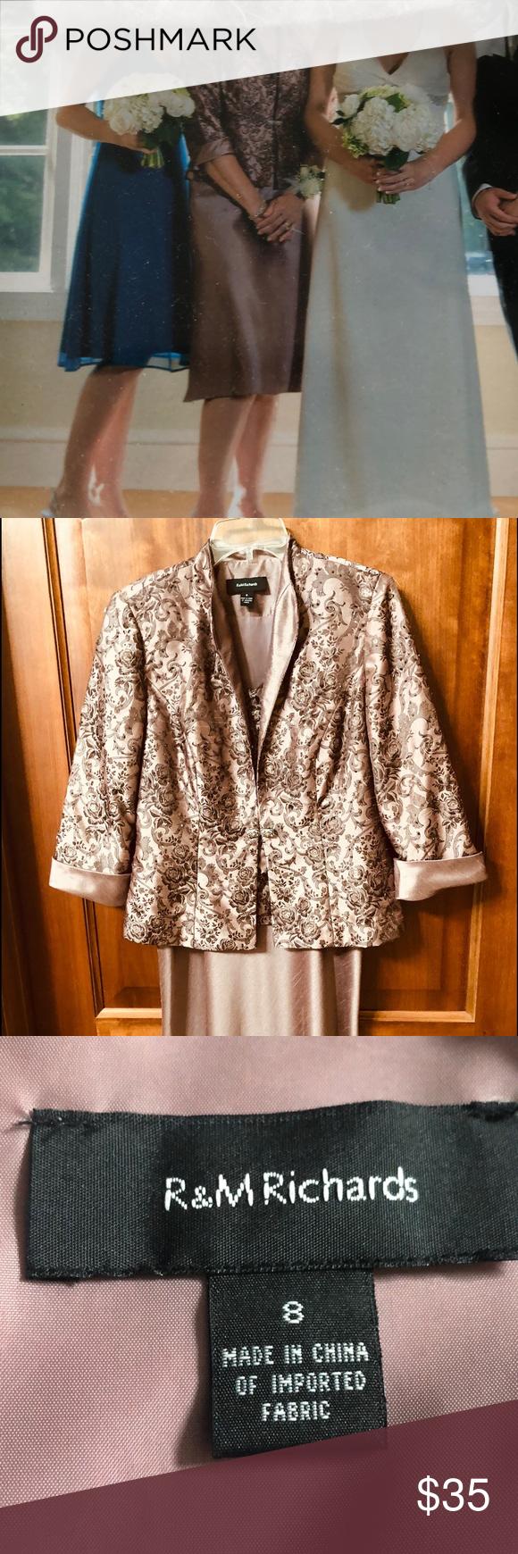 4d1eabbadf6 I just added this listing on Poshmark  Mother of the Bride Dress with  Jacket Rose size 8.  shopmycloset  poshmark  fashion  shopping  style   forsale ...