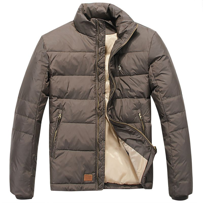 Polo Sale Ralph Lauren Solid Small Pony Down Jacket Brown