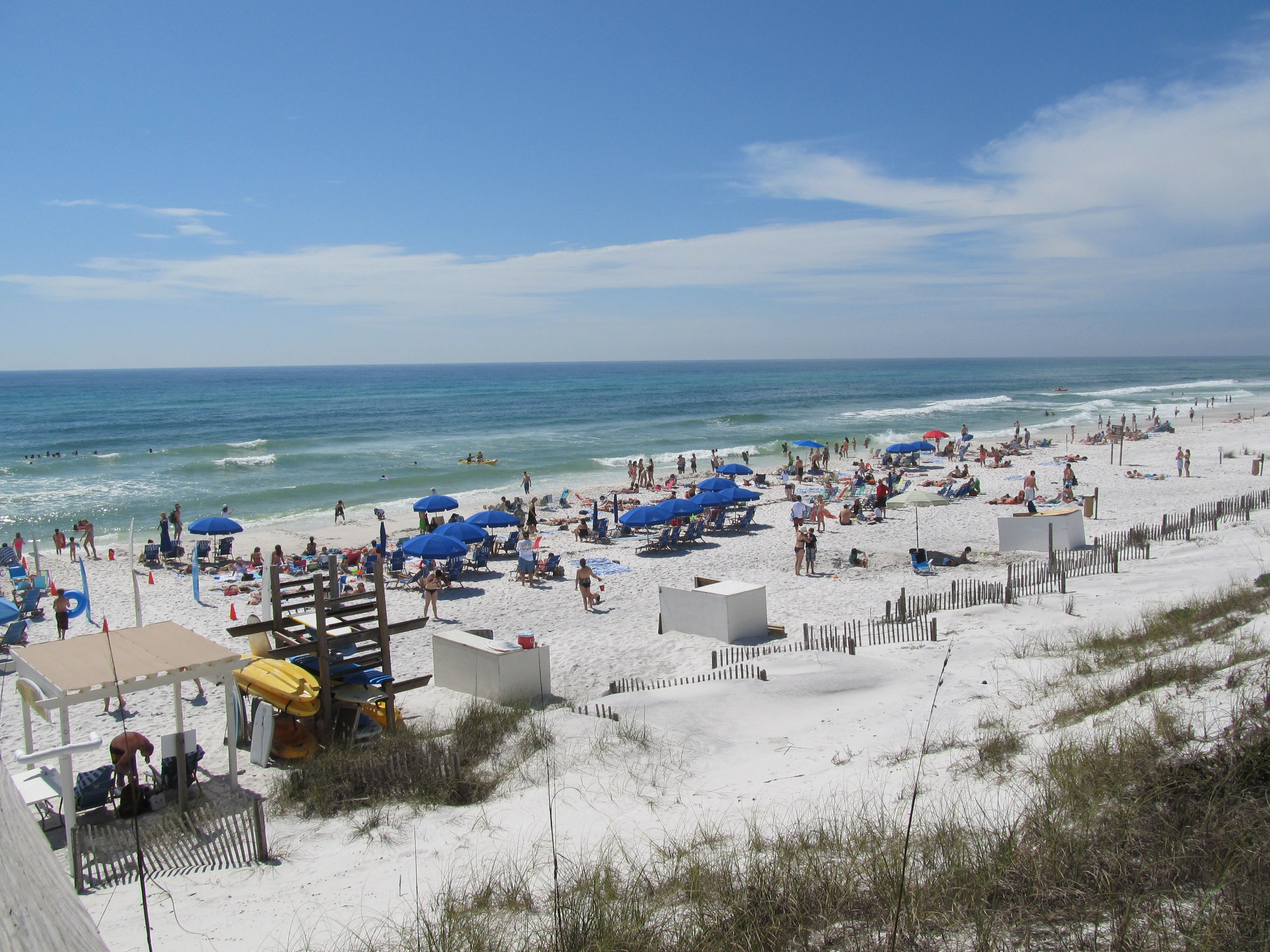 Watercolor Beach At Spring Break With Images Seaside Florida
