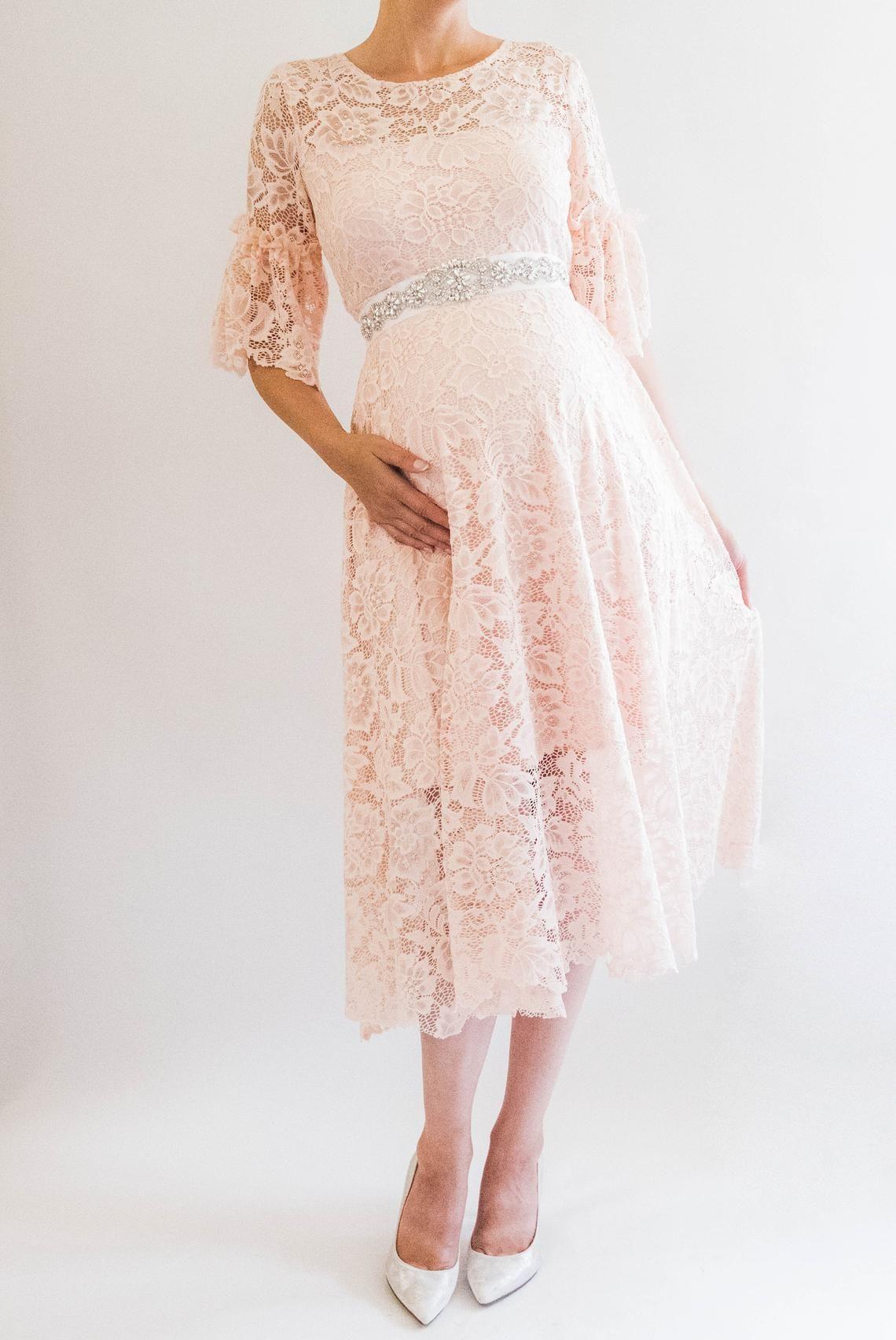 Chloe Lace Maternity Dress Baby Shower Bridesmaid Dress