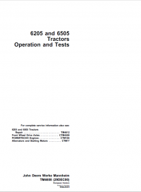 Repair manual john deere 6205 6505 tractors repair operation and repair manual john deere 6205 6505 tractors repair operation and tests manuals fandeluxe Choice Image