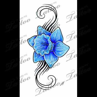 Image Result For Daffodil Tattoo Daffodil Tattoo Tattoos Tribal Back Tattoos