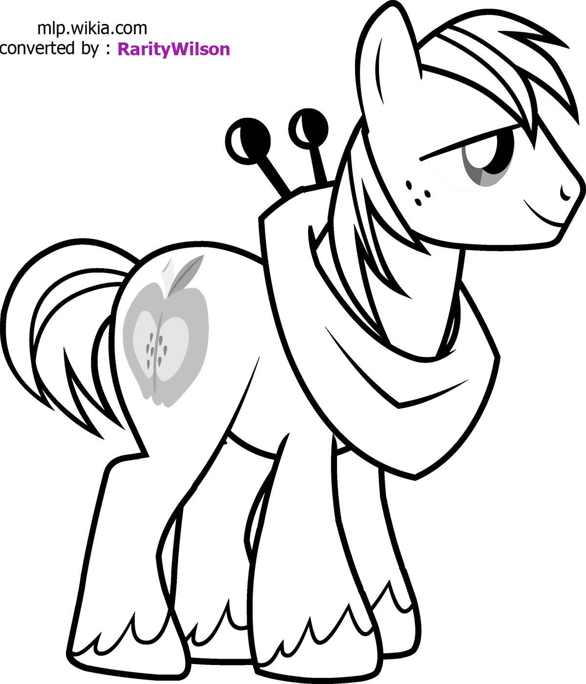 mlp printable coloring pages | my little pony Big Macintosh coloring ...