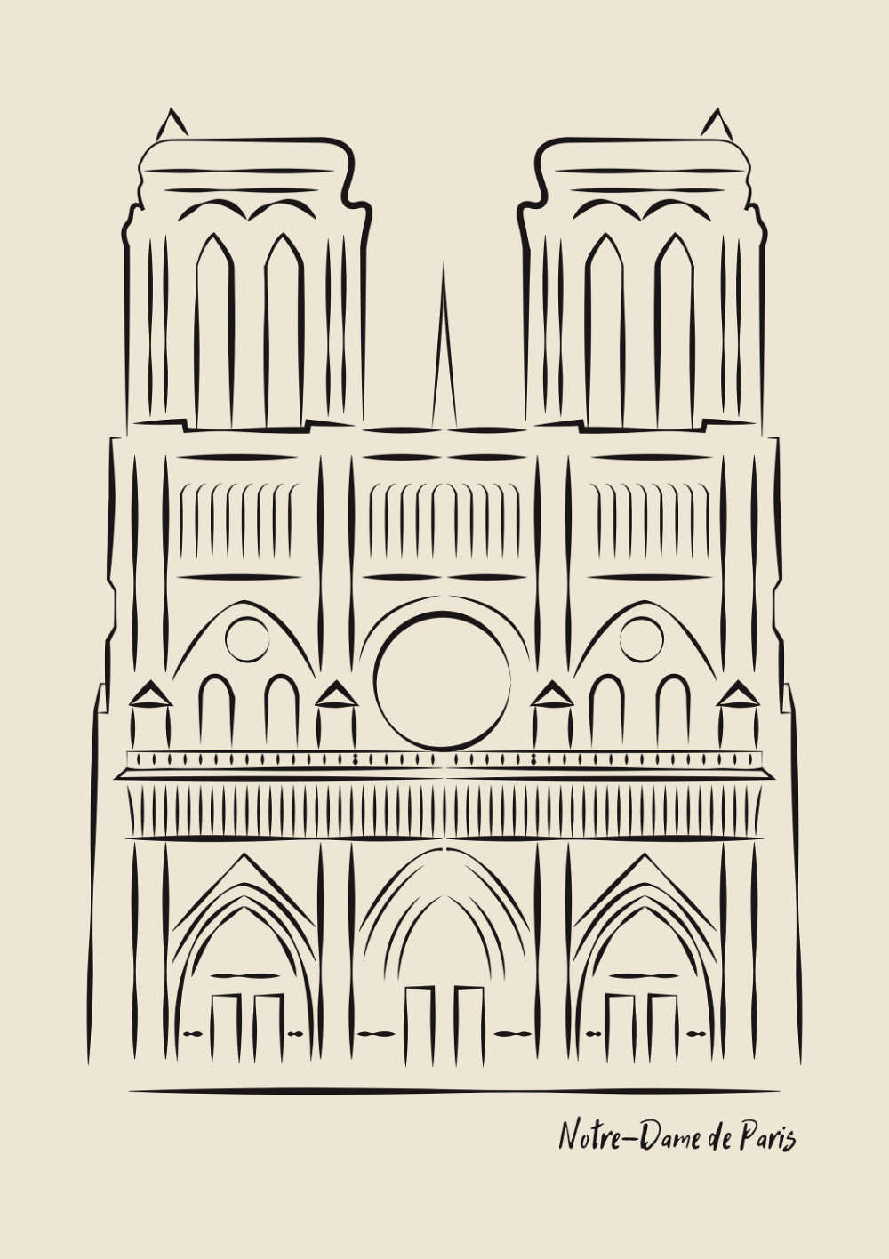Notre Dame Cathedral Print Framed Wall Art Notre Dame Photo Notre Dame Poster Black White Vi Original Art Prints Iconic Poster Architecture Drawing Art