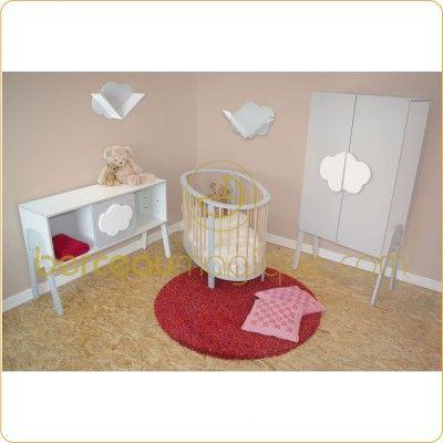 Chambre complète Nuage : lit, commode à langer, armoire et ...