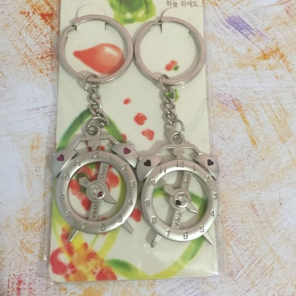 "Couple's matching key chain. ""Alarm clock"" New in package. Adorable couple key chain Accessories"