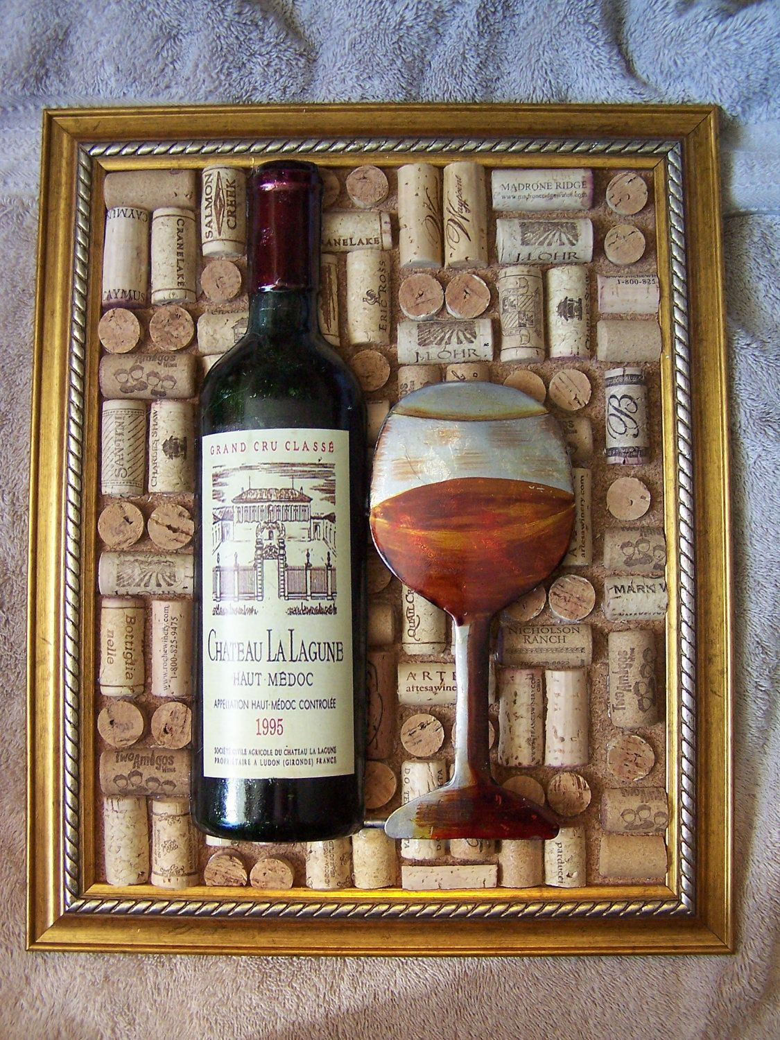 Large Decorative Wine Cork Picture Beautiful By
