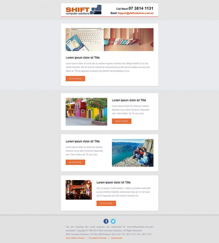Sample 2KHL Email Design Great Looking, Responsive HTML Email Newsletter  Template At Low Cost.