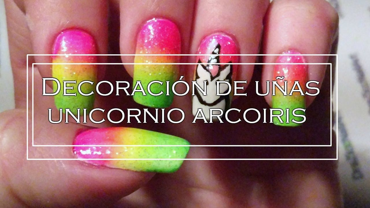 Decoración de uñas Unicornio arcoiris | nail art Uñitas! | Pinterest ...