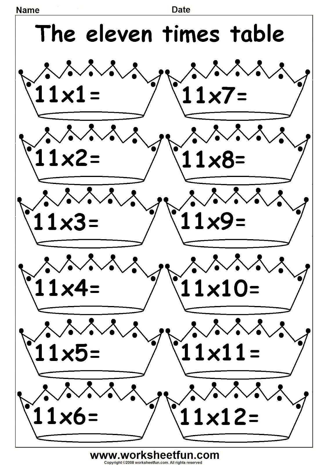Multiplication Worksheets For 3rd Grade