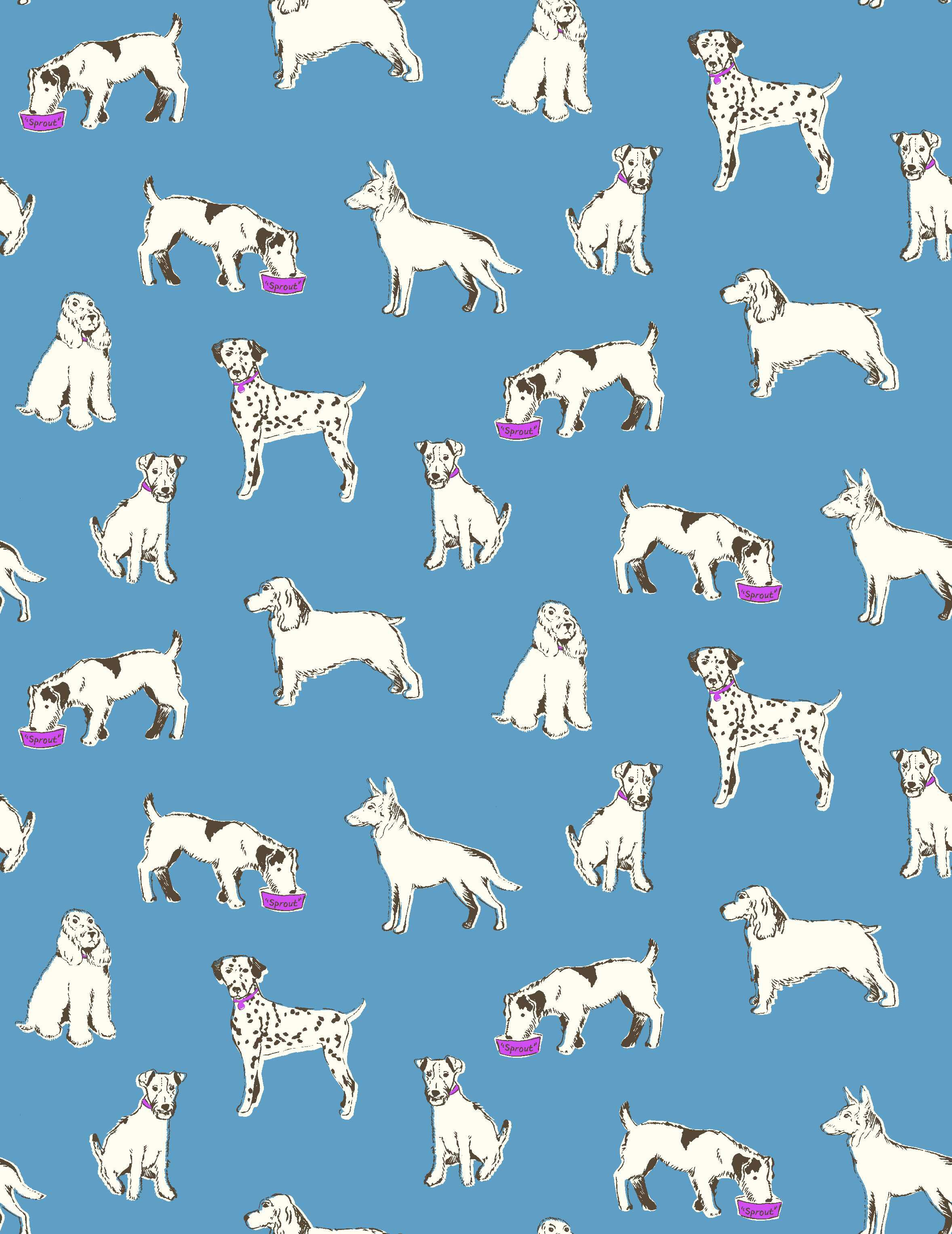 A Pretty Miniboden Pooch Print Get Happy With An Exclusive 20 Off Everything With Codes H5x7 For Th Illustration Art Design Pattern Pictures Animal Doodles
