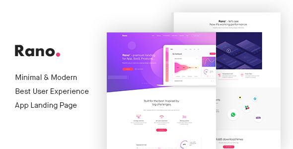 Rano - Landing Page PSD Templates by GoatOld Features07 ...