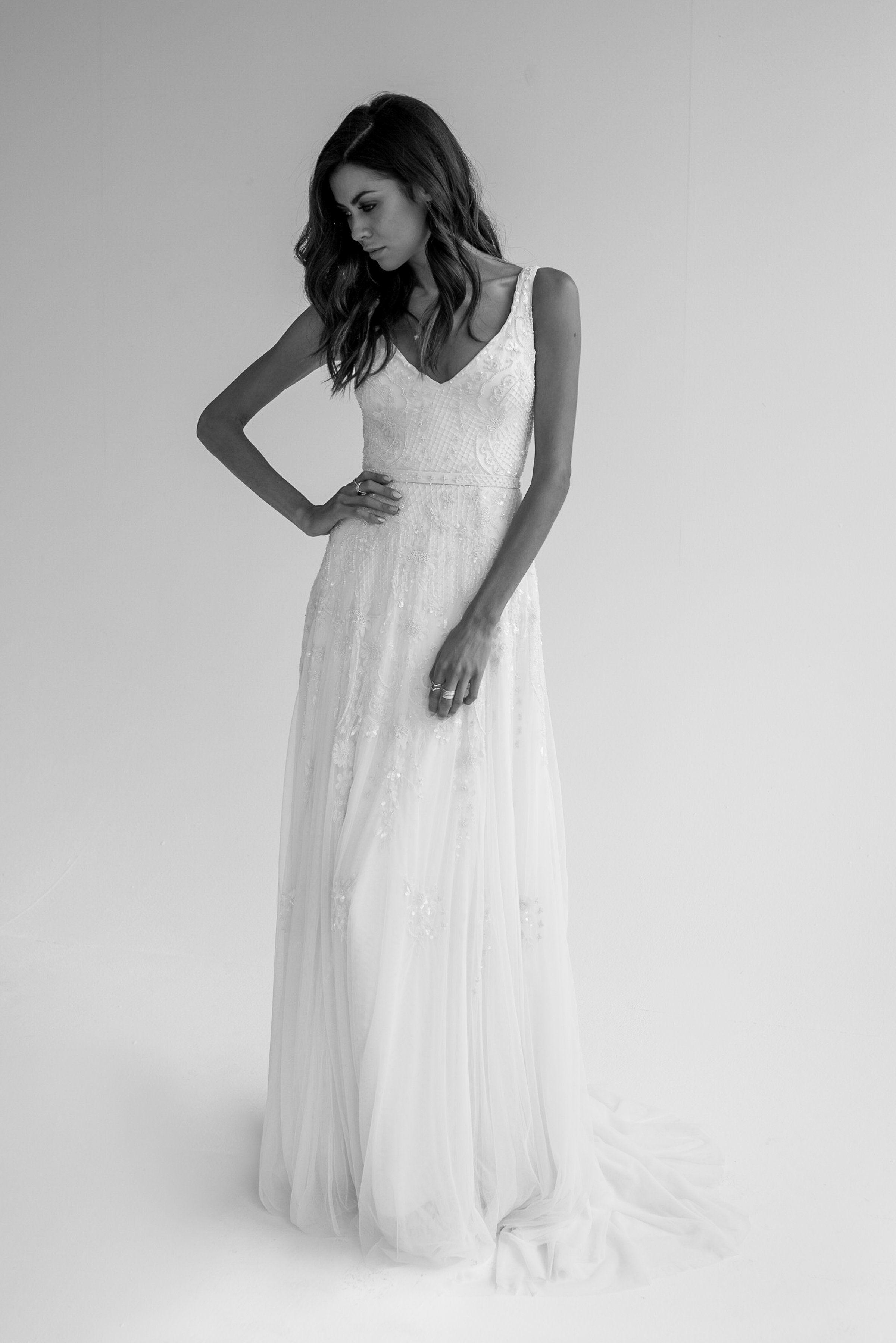 Beatrice Beaded Sheath Wedding Dress Karen Willis