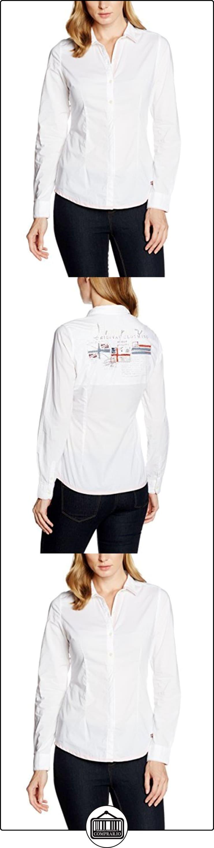 Napapijri GRETCHEN, Blusa Mujer, Blanco (BRIGHT WHITE), 36 (Talla del fabricante: Small)  ✿ Blusas y camisas ✿