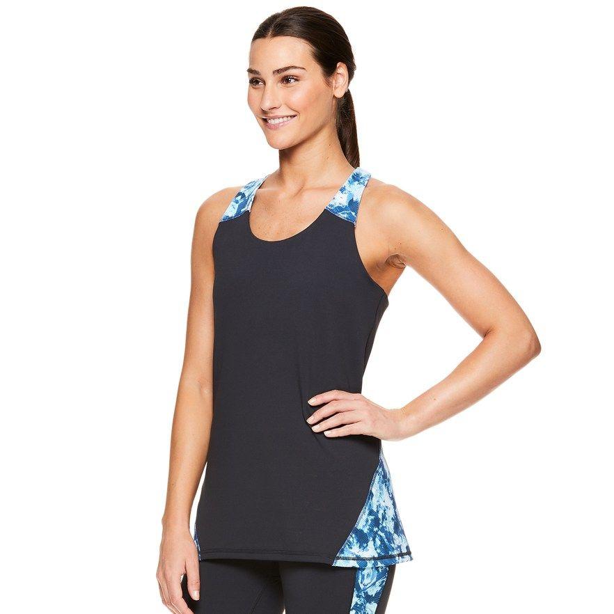 Sleeveless Racerback Workout /& Yoga Shirt Gaiam Womens Muscle Tank Top