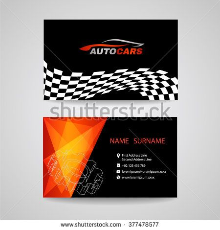 Business Card Vector Design For Transportation Car Racing Sport And Wash