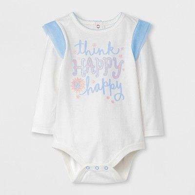 5fc02b681a8e Baby Girls  2pc Think Happy Bodysuit and Skirt Set - Cat   Jack Blue ...