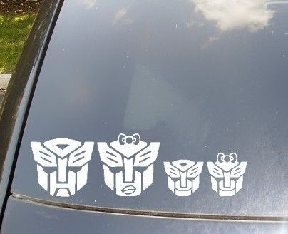 Autobots Family Car Sticker Now With By KellyCreationDecals - Family car sticker decalsfamily car decal etsy