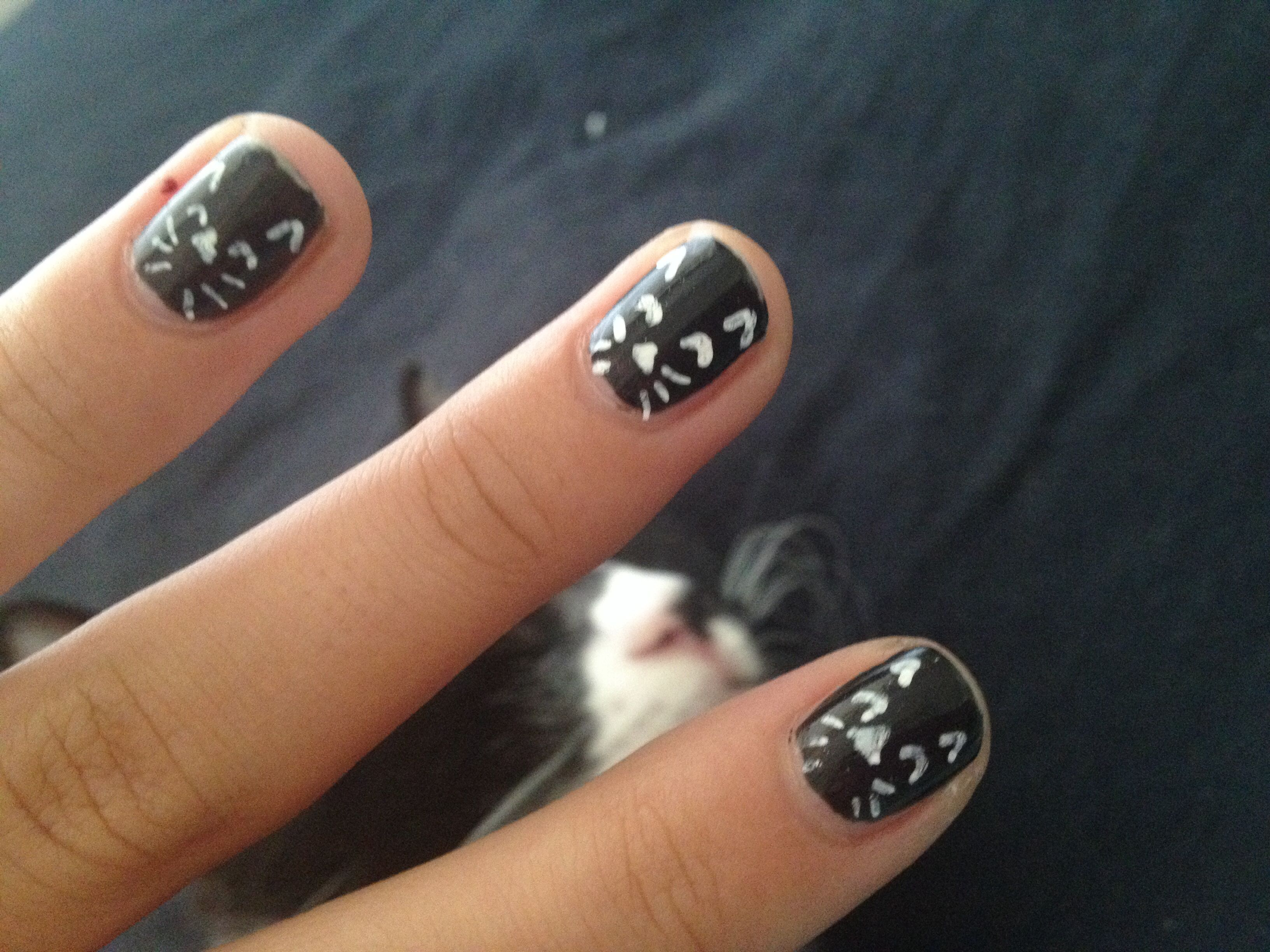 Kitten nail art! | anything i wish i could own | Pinterest