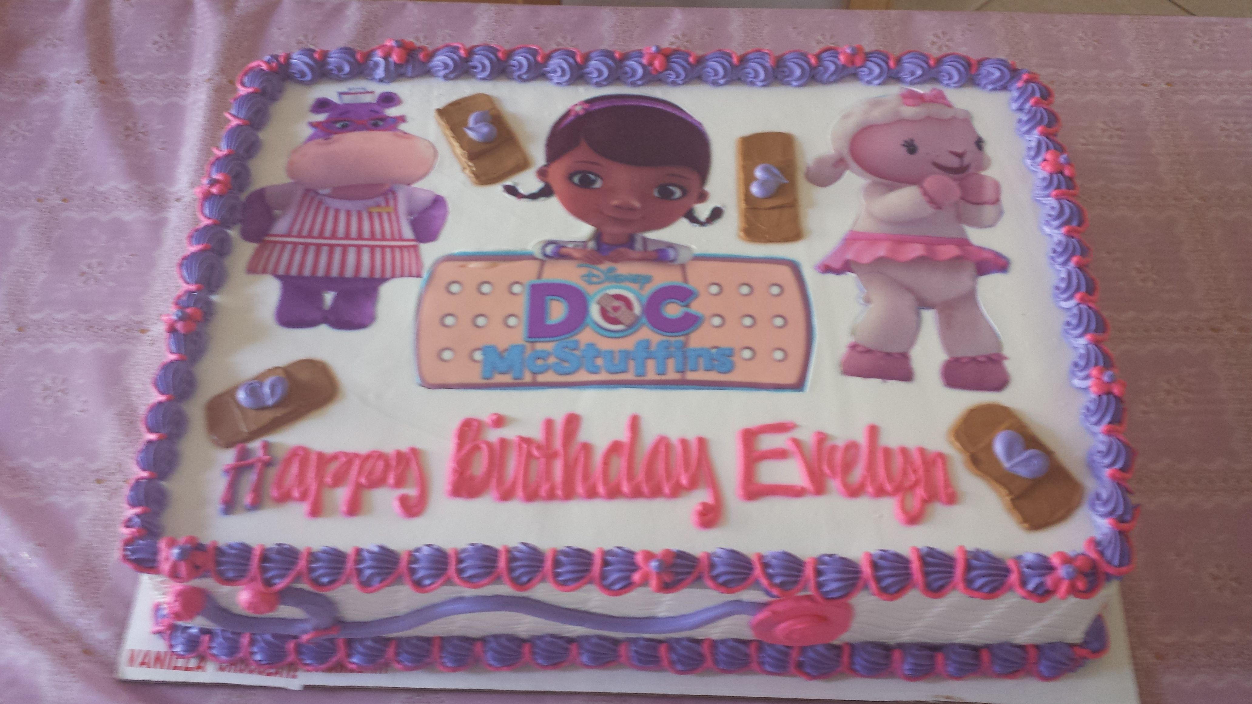 Awe Inspiring Doc Mcstuffins Cake With Images Doc Mcstuffins Birthday Party Birthday Cards Printable Nowaargucafe Filternl