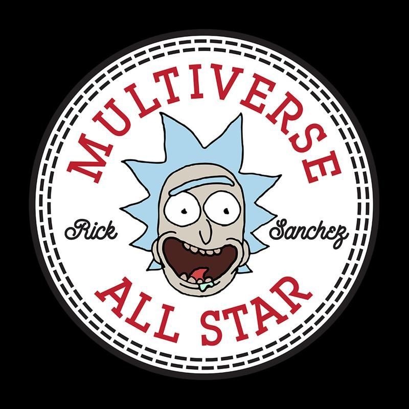 Exclusive Rick And Morty Rick Converse Multiverse Logo fan art mash up designs on a range of apparel and accessories. Shipping Worldwide!
