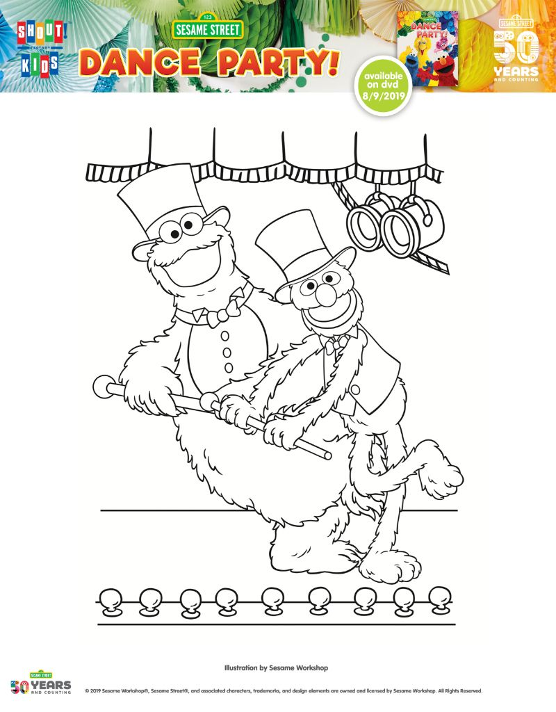 Cookie Monster And Grover Coloring Page Monster Cookies Sesame