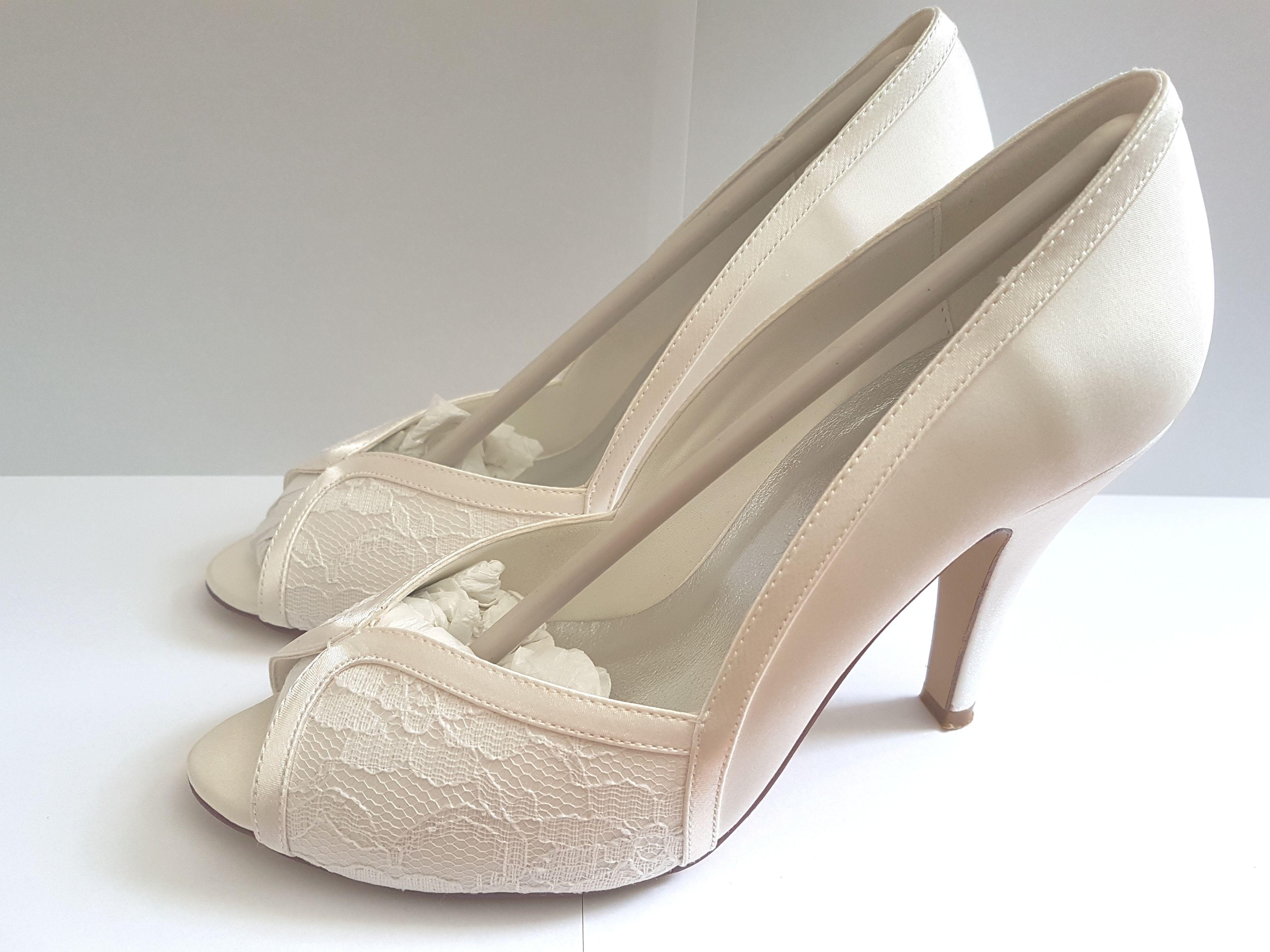 online retailer 8253c 17f5c Vintage Hochzeit Wedding Brautschuhe ElegantPark Ivory ...