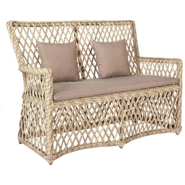 OKA Helford Outdoor 2-Seater Sofa, Rattan ($1,045) ❤ liked on ...
