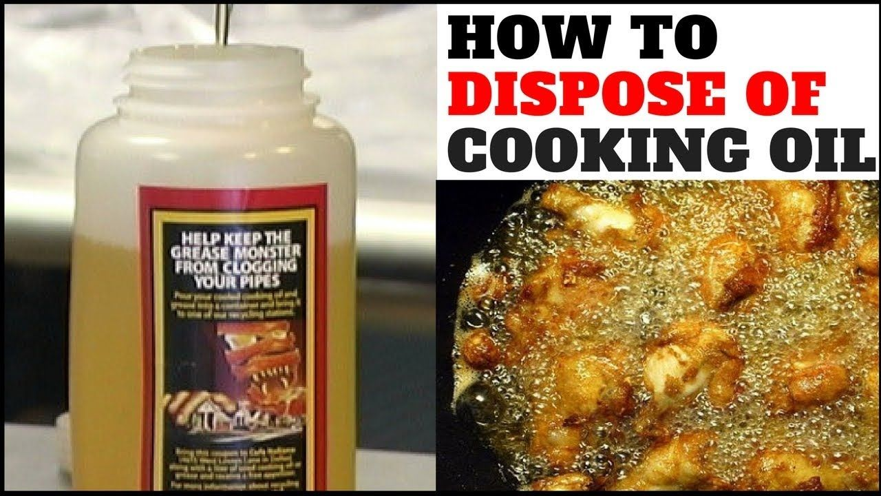This Is How You Should Dispose Of Your Used Cooking Oil