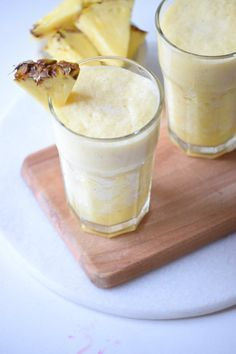 Piña Colada Cocktail Recipe  rum smoothie drink juice pineapple blender flavor fruit