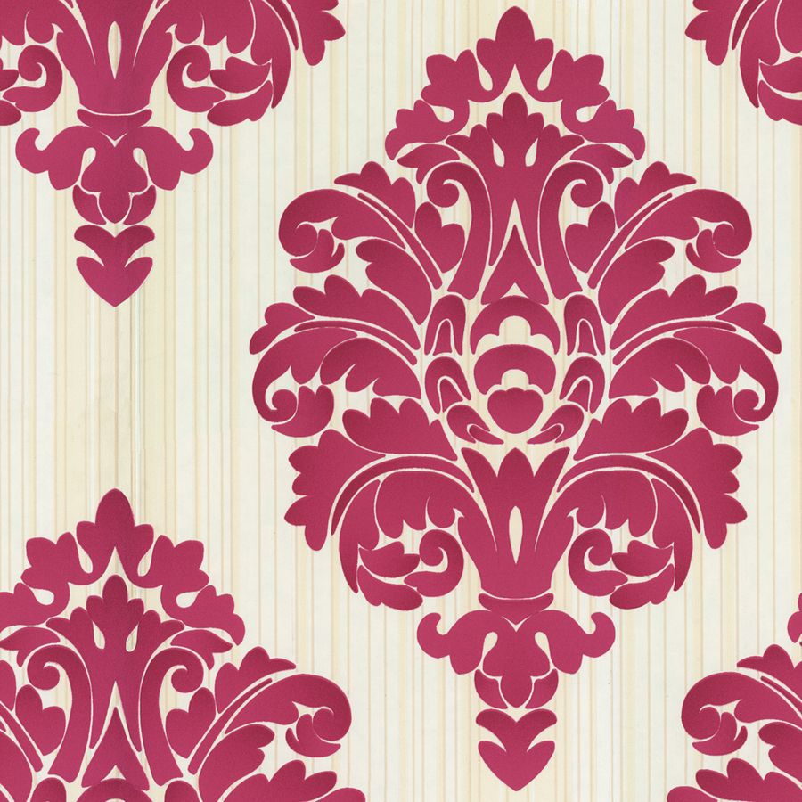 Shop Allen Roth Red Strippable Non Woven Paper Prepasted Wallpaper At Lowes
