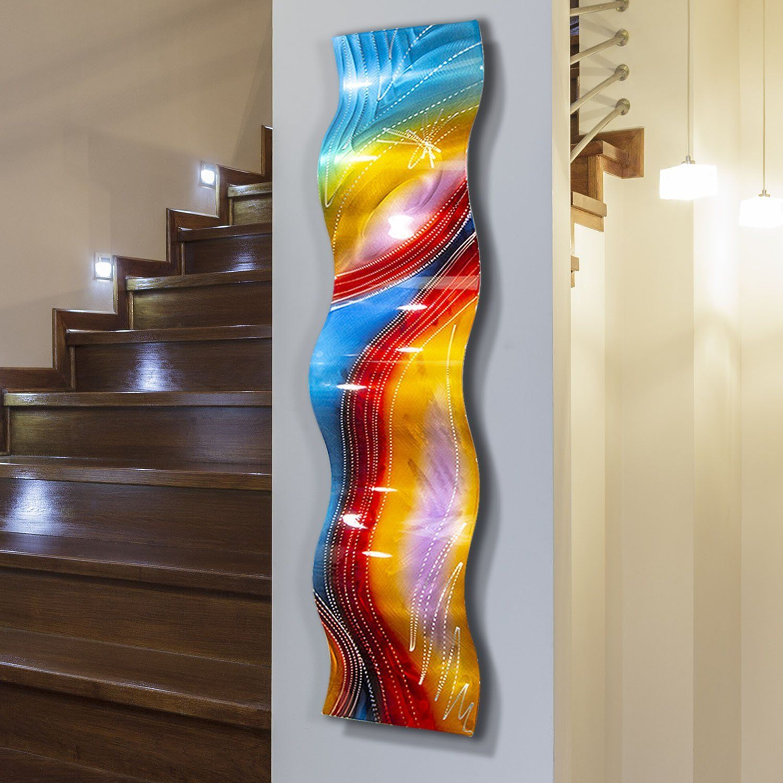 Accumbent Wave Wall Sculpture Art Contemporary Metal Wall Art Abstract Wall Decor