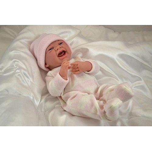 "JC Toys La Newborn Anatomically Correct ""Real Girl"" in Pink Pajamas"