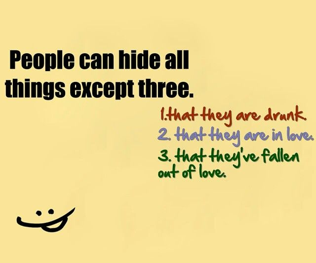 People Can Hide All Things Except Three