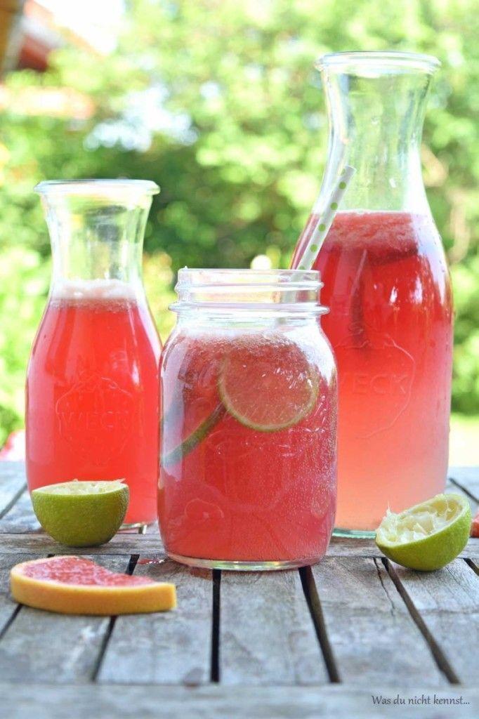 Grapefruit-Limetten-Limonade - Was du nicht kennst...