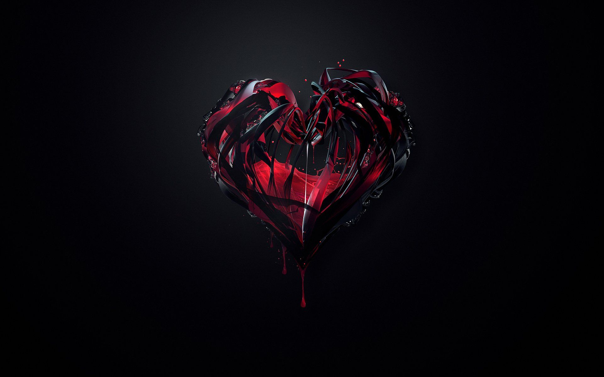 black and red love abstract wallpaper hd widescreen