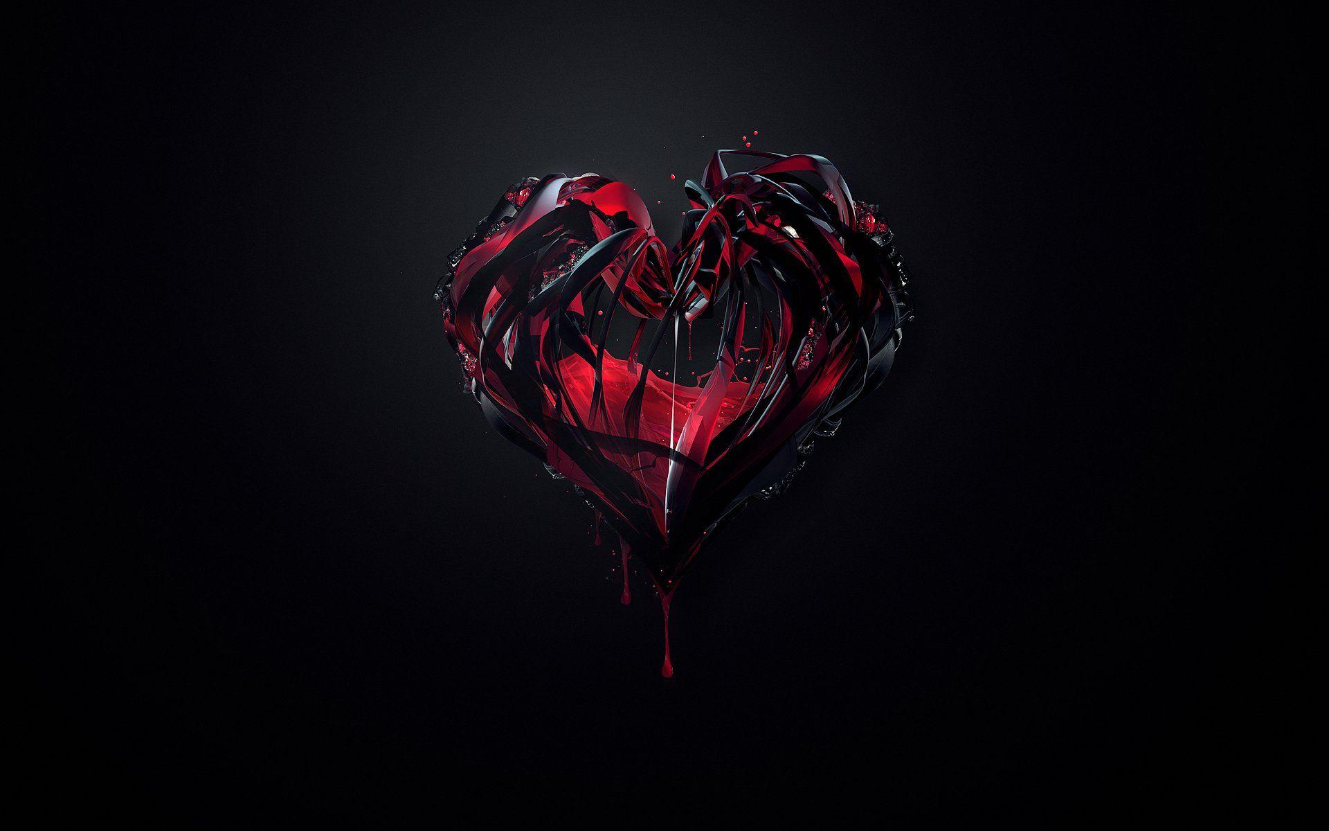 Black And Red Love Abstract Wallpaper HD Widescreen Freeknlknlknlknlknlknkln